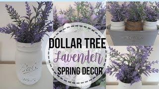DIY DOLLAR TREE SPRING DECOR | SPRING LAVENDER FLORAL DECOR | MASON JAR DIYS
