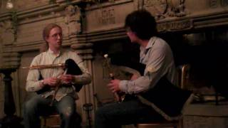 Jarleth Henderson, Uilleann pipes, and Andy May, Northumbrian pipes