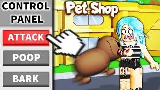 I used Roblox ADMIN to make a PET STORE... and I controlled the pets
