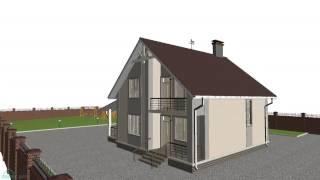 Проект компактного одноэтажного дома с мансардой «Уют-7»  B-141-ТП