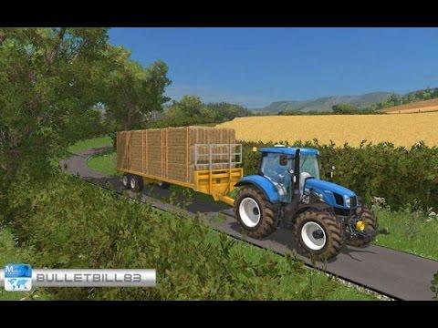 farming simulator 15 29 pr sentation des mods plateau automatique marshall bale trailer. Black Bedroom Furniture Sets. Home Design Ideas