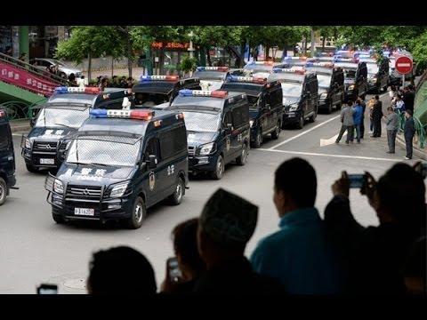 China sentences 55 in mass trial at Xinjiang stadium (Terrorist gang)