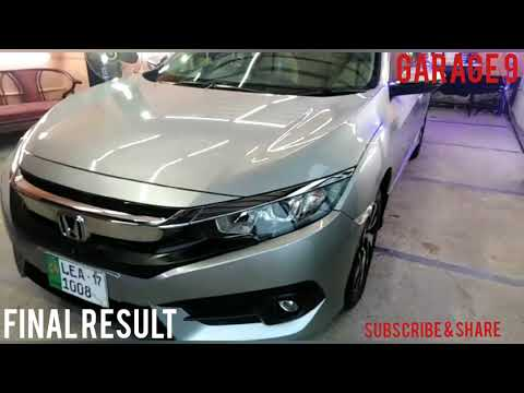 Car Detailing Lahore, Honda Civic 2017 Complete Interior Detailing, Compound & Polish Garage 9.