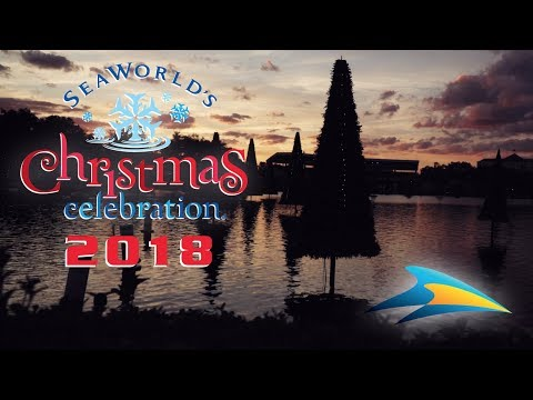 SeaWorld Orlando Christmas Celebration Opening Night 2018