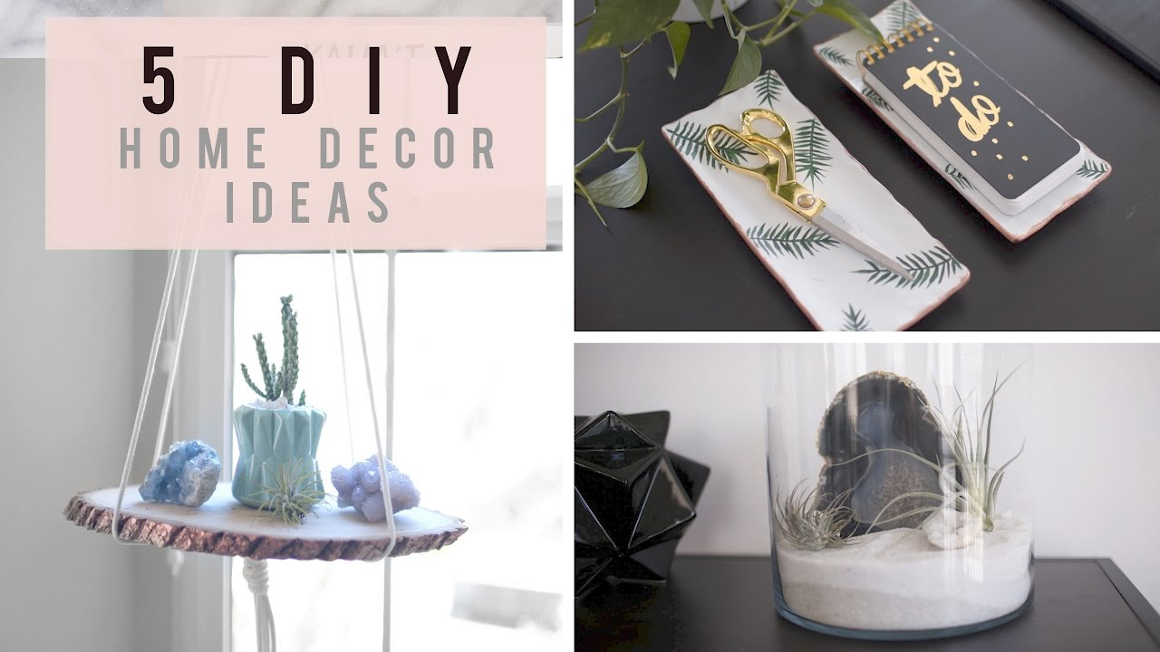 5 DIY Home Decor Ideas for Spring/Summer | ANN LE - YouTube