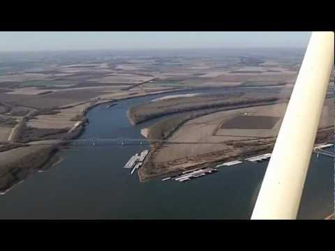 Cairo Illinois, Mississippi river, Ohio river Aerial view.MP4