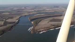Cairo Illinois, Mississippi river, Ohio river Aerial view.MP4