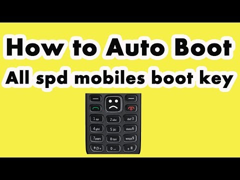 How to Auto Boot | All spd mobiles boot key - YouTube