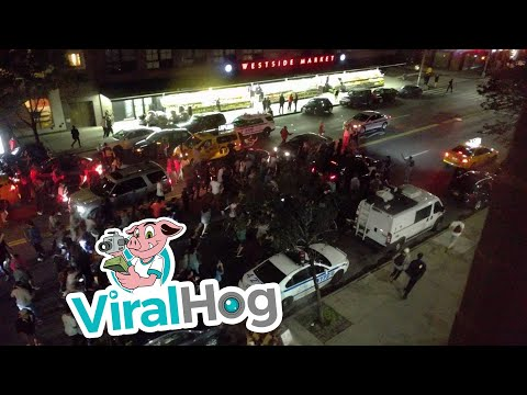 Kanye West Fans Mob Street As He Drives Away When Concert Was Canceled || ViralHog