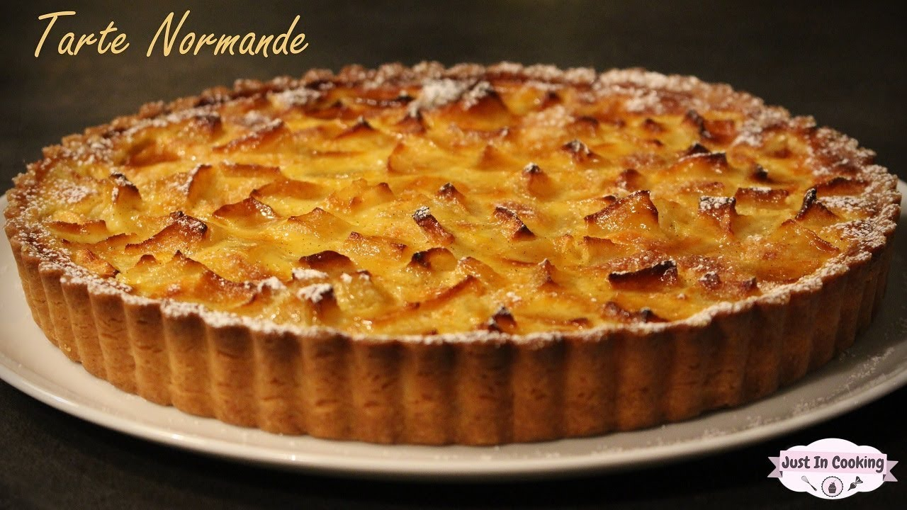 recette de la tarte normande aux pommes youtube. Black Bedroom Furniture Sets. Home Design Ideas