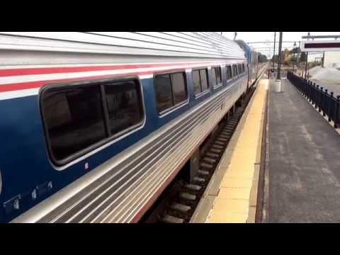 Amtrak Train Spotting @ The Kingston Amtrak Train Station In RI (WITH 150MPH ACELA'S!!!!)
