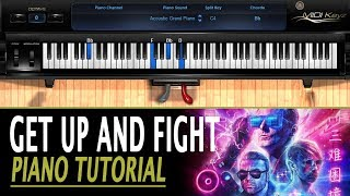 Get Up and Fight PIANO TUTORIAL - Muse (How To Play)