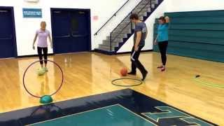 Dribbling, kicking and punting lesson plan for elementary physical education