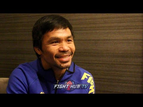 MANNY PACQUIAOS GRAND ARRIVAL MEDIA SCRUM - PACQUIAO VS BRONER