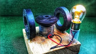 How to make free energy generator very simple using dc motor with magnets - DIY electricity project