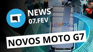 Novos Moto G7 anunciados; Kindle Paperwhite à prova d