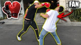 FIGHTING JAKE PAUL FANS AT THE CLOUT HOUSE!! *OMG* thumbnail