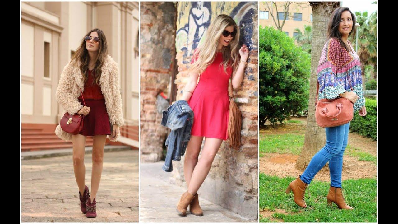 7c62a08ac2 Botines Mujer ♥ OUTFITS DE PRIMAVERA Botines Outfits Moda