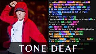 Eminem - Tone Deaf | Lyrics, Rhymes Highlighted