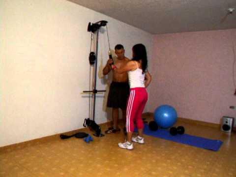 Xs home gym gimnasio casero brazo triceps push down for Gimnasio casero