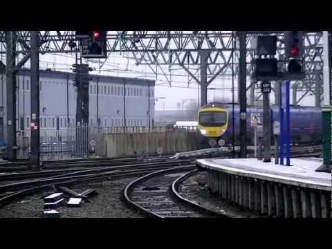 (HD) First TransPennine Express 185's at Manchester Piccadilly |  04/02/12