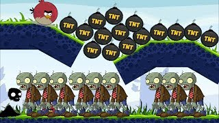 Angry Birds Fried Zombies - ONE TERENCE DROPPING ALL TNT ON ALL ZOMBIE ALL!