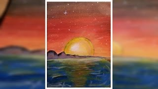 How to paint a Planet scene/Sunset- AmateurArt