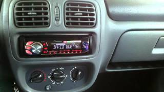 Renault Clio II 1998r. car audio (test)