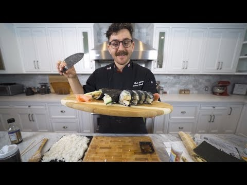 making sushi is really easy