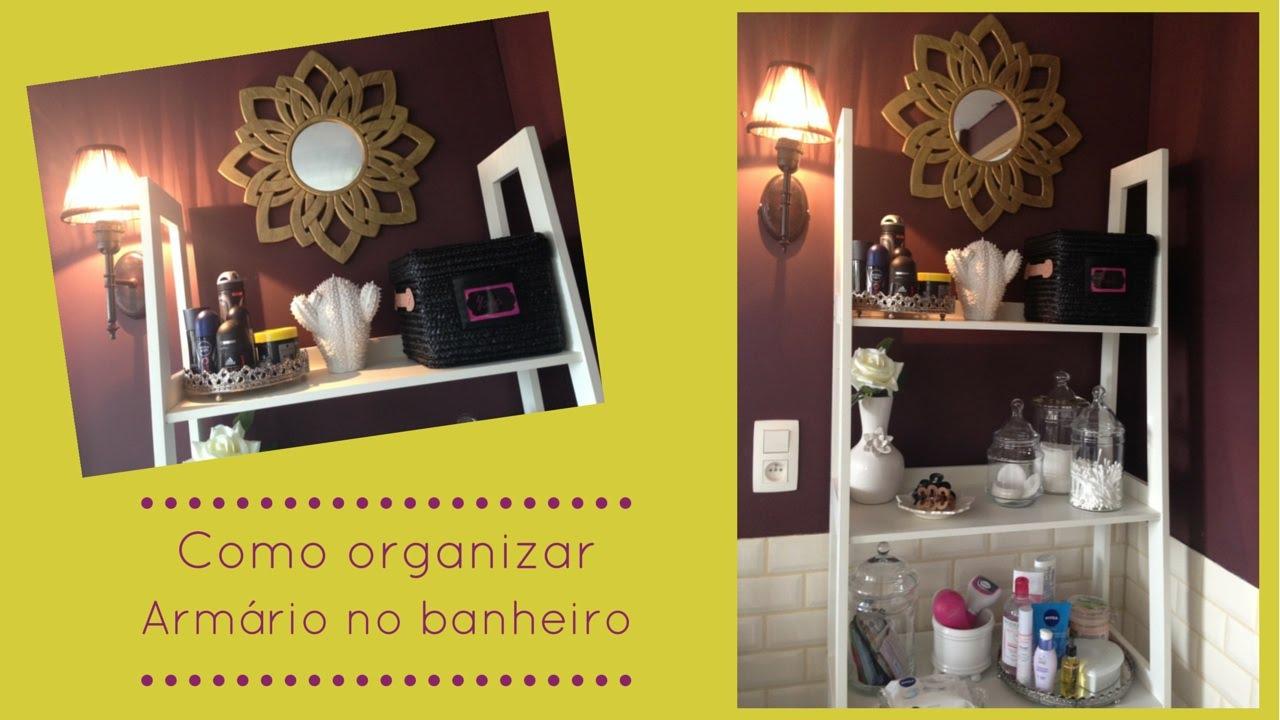 Como organizar armário do banheiro  YouTube -> Organizar Armario De Banheiro