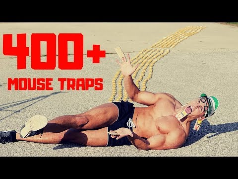 Rolling Across 400+ MOUSE TRAPS in Slow Motion | Bodybuilder VS Extreme Human Trap Challenge