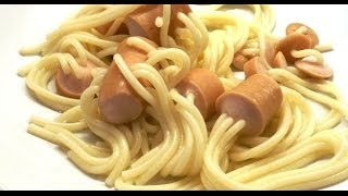 Spaghetti In The Sausages Or Sausages Stuffed With Spaghetti (cooking Time 20 - 25 Mins)