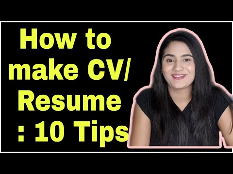 How To Make Best CV/ Resume For HR Interview & Job For Beginners/ Freshers/ Experienced Candidates