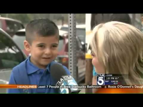 Reporter Makes Kid, 4, Cry Missing His Mom on TV, Courtney Friel Makes Pre K Student Cry  -VIDEO