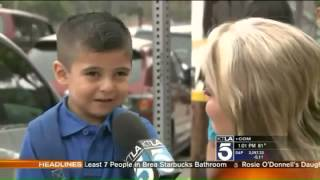 Repeat youtube video Reporter Makes Kid, 4, Cry Missing His Mom on TV, Courtney Friel Makes Pre K Student Cry  -VIDEO