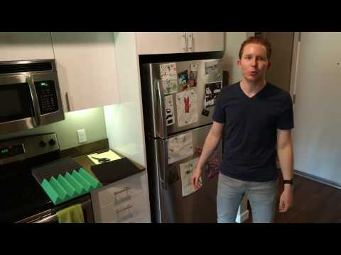 Can you silence a fridge with acoustic foam? - YouTube