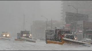 Today Winter Snow Storm in Toronto North York Yonge Street