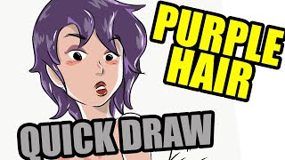 Quick Draw | Miss Purple Hair WET | Millsbury Media