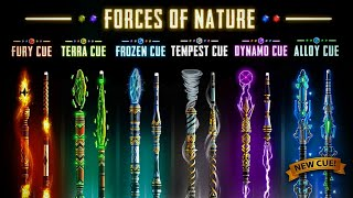 8 BALL POOL - GET FORCES OF NATURE CUE COLLECTION | FURY CUE 🔥| BY FARZEEN BAJWA