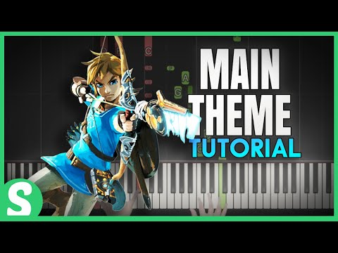 """How to play """"MAIN THEME"""" from The Legend of Zelda (Synthesia) [Piano Video Tutorial] [HD]"""