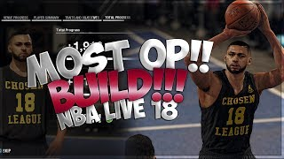 MOST OVER POWERED BUILD IN NBA LIVE 18!! NBA LIVE 18 PS4 FULL GAME!!!