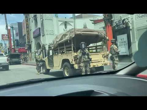 'Literally, The National Guard': Local In Disbelief As Military Vehicles Line Hollywood Boulevard