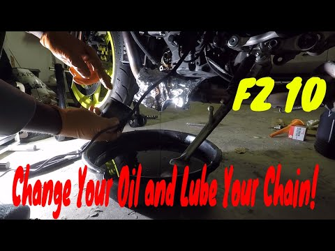 How to Change Oil and Clean Chain on MT 10 (FZ 10)