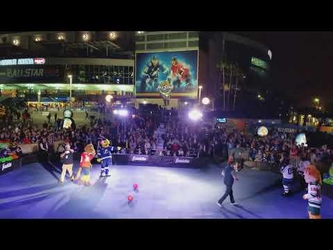 2018 NHL All Star Mascot Dodge Ball Game (Funny)
