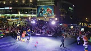 2018 NHL All Star Mascot Dodge Ball Game (Funny)