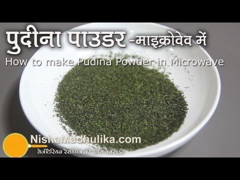 Mint leaves powder   Pudina podi  How to Make Pudina Powder in Microwave