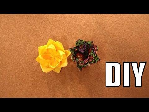 Składanie Serwetek Na Stół: Jak Złożyć Serwetkę W Kwiat? ★TUTORIAL HOME DECOR DIY★