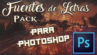 FUENTES DE LETRAS PARA PHOTOSHOP CS6 PACK 7 by NitroDesigns