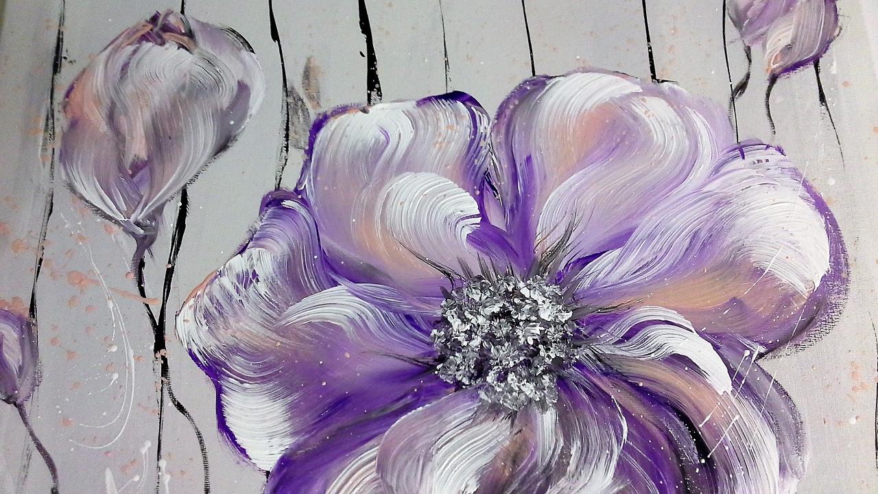 Tulpe Blumen Malen Acryl Blumen Malen Tulpenmalerei