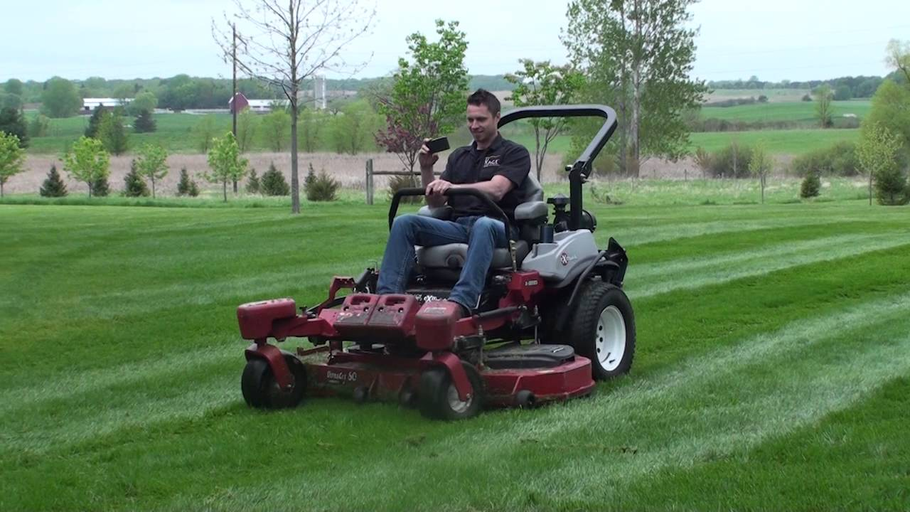 Walk Behind vs  ZTR vs  Stander  Commercial grass cutting with a walk  behind sulky